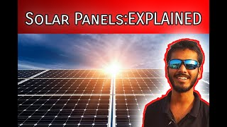 Solar panels explained in Hindi (Part-I) Technical