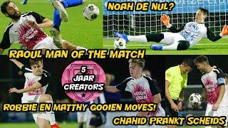 Bankzitters Matthy Robbie Gooien Moves Raoul Man Of The Match Chahid Prankt Ref De Nul Voor Noah