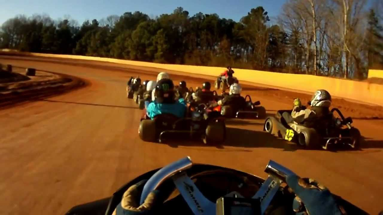Brenton Ferre 322 go Kart racing at Cherokee speedway dirt track ...