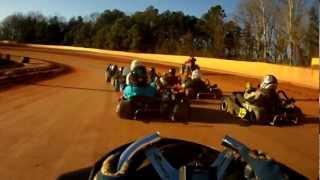 Brenton Ferre 322 go Kart racing at Cherokee speedway dirt track Race part 1 20Jan2013