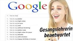 häufigst gestellten Gesangs fragen auf Google