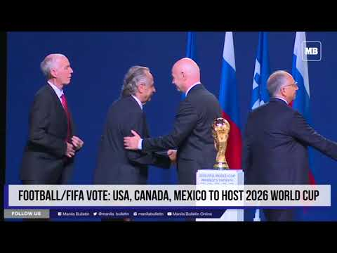 Football/FIFA vote: USA, Canada, Mexico to host 2026 World Cup
