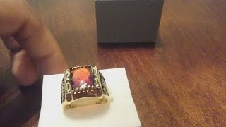 THE BEST HIGH SCHOOL RING IN THE WORLD GARNET STONE (JANUARY) CLASS OF 2011