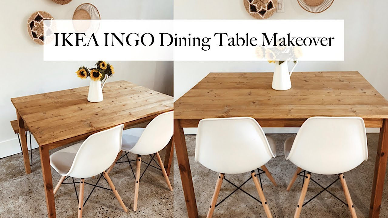 ikea ingo diy dining table makeover youtube. Black Bedroom Furniture Sets. Home Design Ideas