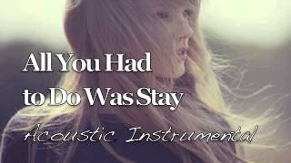 Taylor Swift - All You Had to Do Was Stay (Acoustic Instrumental)