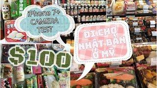 ĂN UỐNG CUỐI TUẦN, ĐI CHỢ NHẬT BẢN Ở MỸ VỚI ~$100 ♡ iPhone 7+ Camera Test  ♡ mattalehang