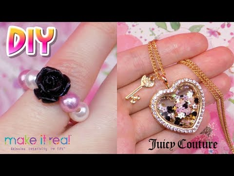 DIY Juicy Couture Enchanted Locket Jewelry - How to Make Ring, Necklace & Bracelet from Make It Real
