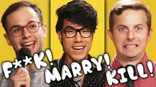 The Try Guys Play F***, Marry, Kill: Ned's Wife Edition(Will Ned's wife kill her husband? Follow all your BuzzFeed favorites in one app! Get the BuzzFeed Video app here: http://video.bzfd.it/jVwh/0sP9ew5bcr Check ..., 2016-02-28T15:00:00.000Z)