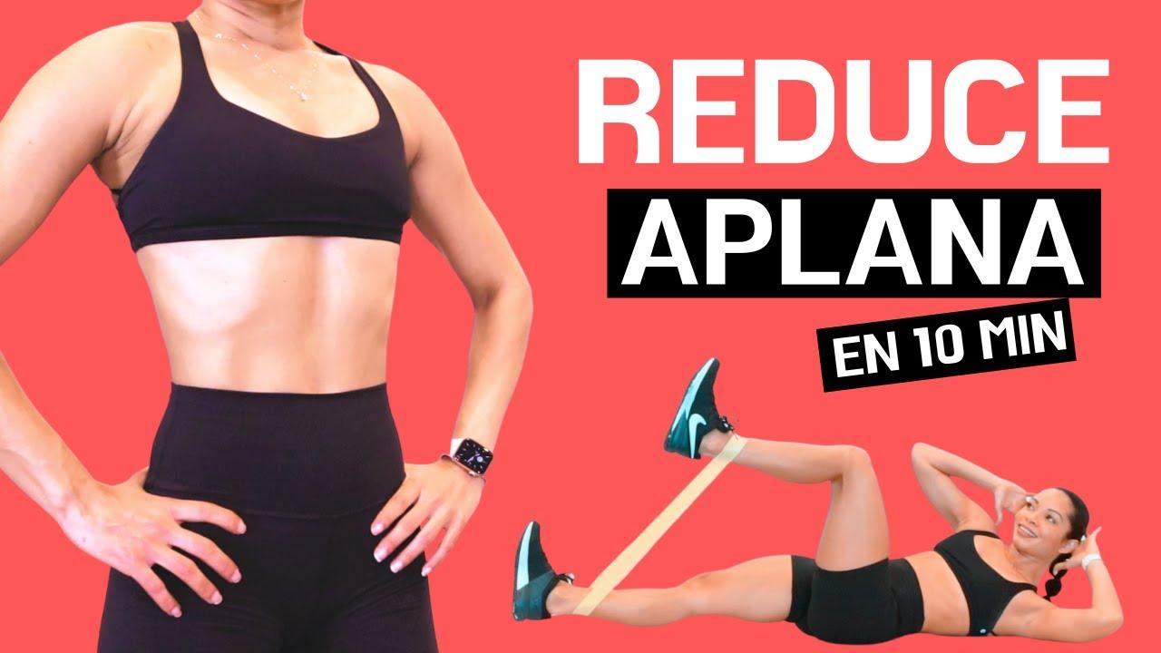 ABDOMEN PLANO en 10 MINUTOS   Reducir Cintura y Abdomen    Fitness by Vivi