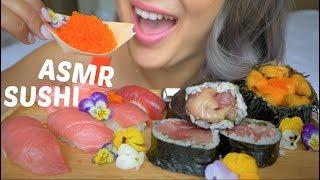 SUSHI ASMR (Japan) *No Talking Eating Sounds | N.E Let's Eat