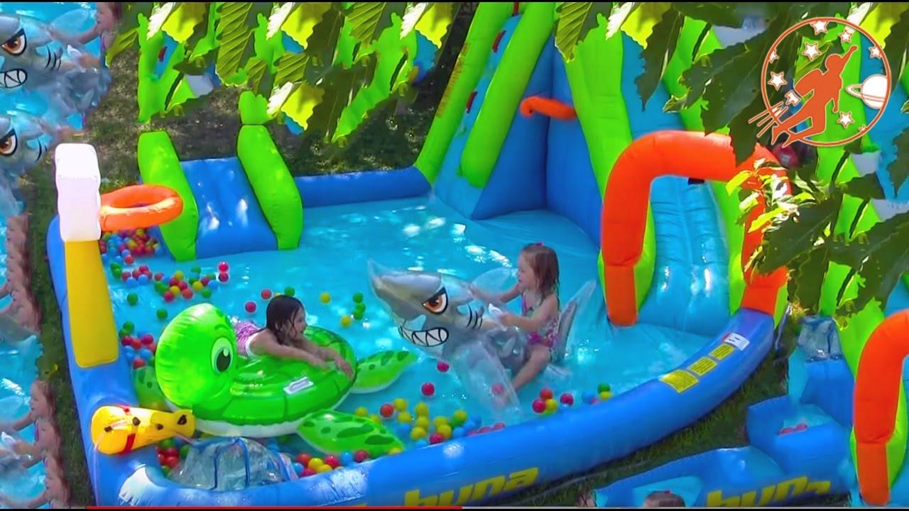 732afa76b9b563 Kids Inflatable Water Slides with Princesses