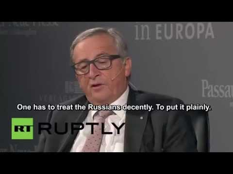 EU Commission head Junker: Relations with Russia 'must be improved,' US 'can't dictate'