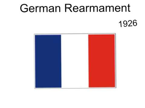 the rearmament of germany in the Germany left the leage of nations and while the other nations were disarming, germany rearmed themselves back as they did not want to be less powerful then the other nations.