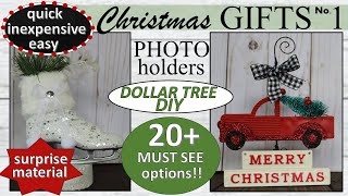DIY CHRISTMAS GIFT EVERYONE WILL LOVE | Photo Holders |Super Cheap and Easy
