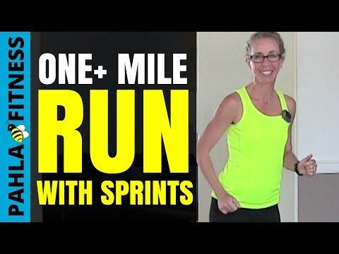 1+ Mile RUN with SPRINT INTERVALS | Friday Fun Run | Speed Training