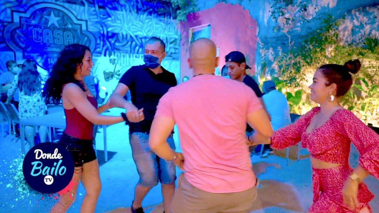 Bailando Salsa en Mexico | Rueda de Casino | Casa Cuba