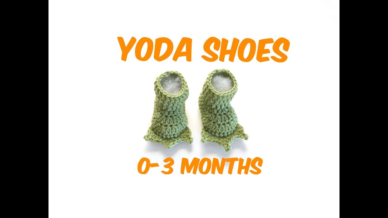 0ed99e609 How to Crochet Yoda Feet shoes / baby shoes (0-3 months)
