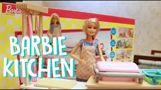 Review Barbie Kitchen Set plays by Cici The Choco