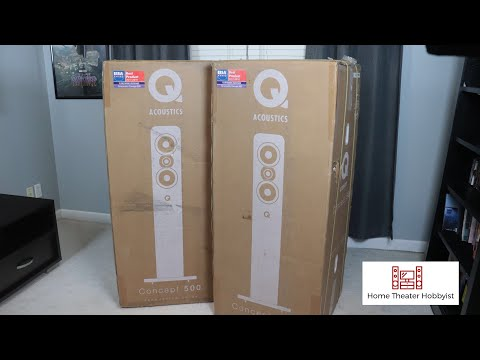 Q Acoustics Concept 500 Unboxing And Overview