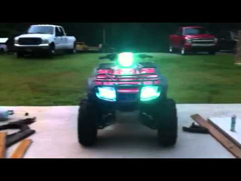 Custom Lifted Foreman 500 With Hid Kit Youtube