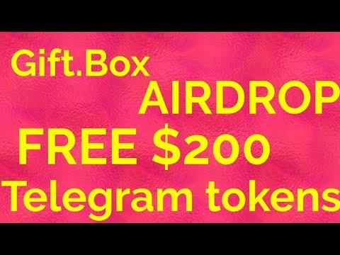 Telegram ico free $200 tokens airdrop gift.one gift.box
