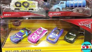 Cars 3 diecast Next Generation Racers 4-Pack| J.D McPillar, Flip Dover, Barry DePedal, Steve Slick