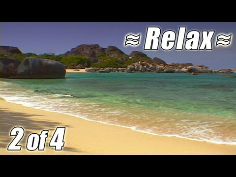 RELAXING VIDEO #2 BEST VIRGIN ISLANDS BEACHES Ocean Wave Sounds Relaxing relax beach USVI BVI HD