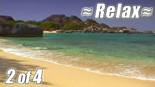 RELAXING VIDEO #2 BEST VIRGIN ISLANDS BEACHES Ocean Wave Sounds Relaxing relax beach USVI BVI HD