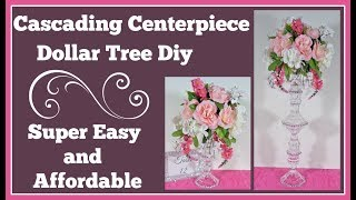 Cascading Centerpiece 🌹 Dollar Tree Diy Easy and Affordable