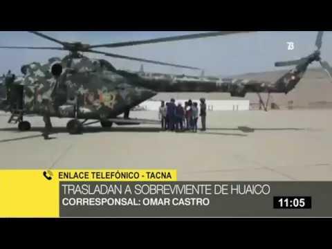 Tacna: trasladan a sobreviviente de huaico en Mirave