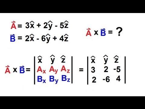 Physics - Mechanics: Vectors (18 of 21) Product Of Vectors: Cross Product: Example 2