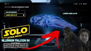 The Solo: A Star Wars Story Millennium Falcon in Battlefront 2 ??! | JacTesson