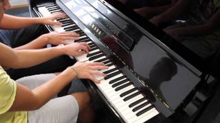 Two And A Half Men Theme Song (Soundtrack Intro) Four - Handed Piano Cover
