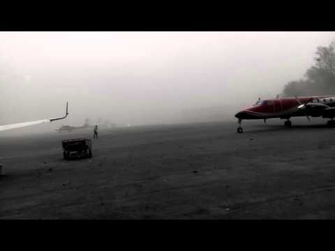 Sand Storm At Kathmandu Airport NEPAL At An Altitude Of 4490Ft