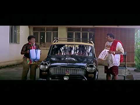 Kannada Comedy Scenes - Tennis Krishna Throws Water On Madhumaga | Chellata Kannada Movie