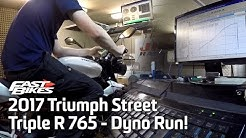 2017 Triumph Street Triple R 765 - Dyno Run!