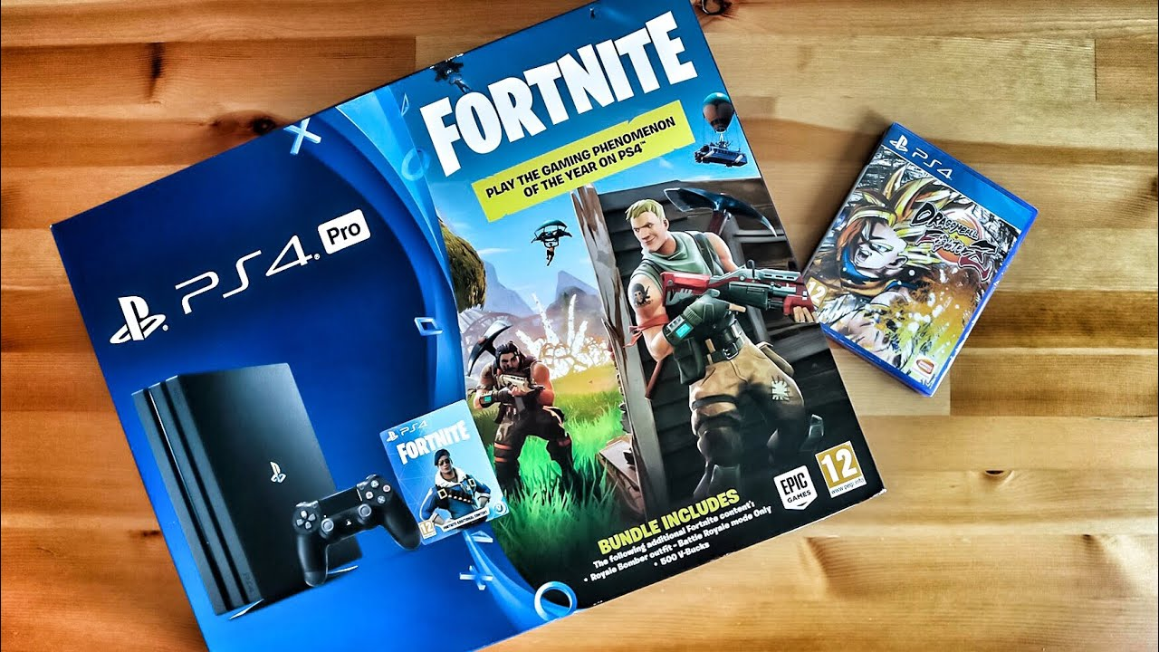 PS4 PRO Fortnite Edition Unboxing
