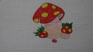 Как нарисовать Грибы мухоморы /3/ Draw the mushrooms Amanita