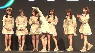 AKB48の柏木由紀、横山由依、小栗有以らが「ソフトバンク 5G 新商品・新サービスに関する発表会」に出席した。メンバーはこの日、同社の新...