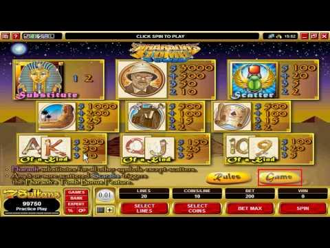 Casino Games: Pharoahs Tomb Video Slot at 7Sultans Casino