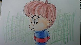 Как рисовать мультяшную голову ребенка, #2 урок рисования, комиксы, мультики(Видео урок рисования мультяшек, комиксов. Как научиться рисовать мультяшную, детскую голову. Для начинающих., 2014-10-07T04:27:29.000Z)
