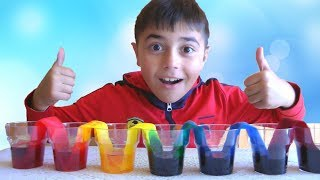 Learn colors and count with Guka and walking water - science experiments for kids at home