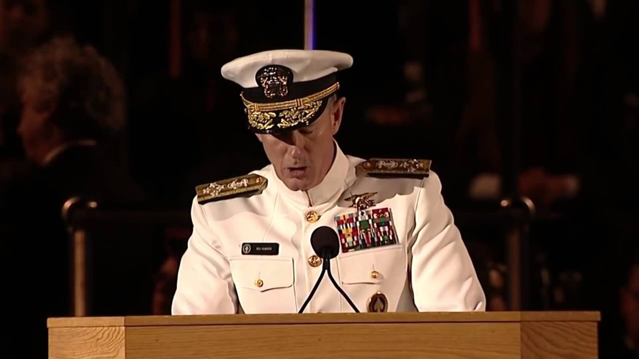 Admiral William H Mcraven Never Ring The Bell Youtube