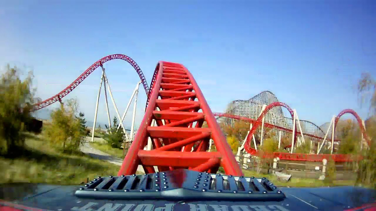 3d Anaglyph Wallpaper Desktop Maverick Awesome Roller Coaster Front Seat Pov 1080p Hd