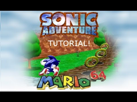 Sonic Adventure Dreamcast  - Easter Egg - Super Mario 64 Playable!
