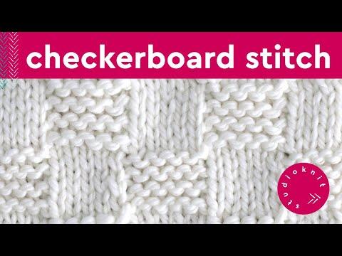 GARTER CHECKERBOARD Knit Stitch Pattern