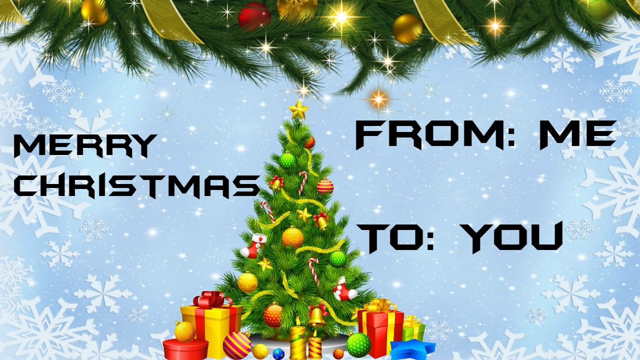 a very merry christmas from me to you :) - YouTube