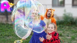 DIY giant bubbles for kids by Anna Kids