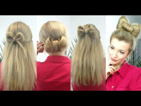 Super Easy Hairstyles Quick And Easy Bow Hairstyles Awesome
