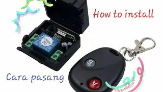 Remote Control DC 12V Button RF switch system 433MHz